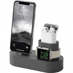 Док-станция Elago Charging Hub 3 in 1 для iPhone / Apple Watch / AirPods тёмно-серая