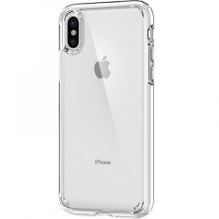 Чехол Gurdini Silicone Case Ultrathin для iPhone Xs Max прозрачный