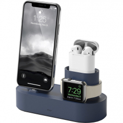 Док-станция Elago Charging Hub 3 in 1 для iPhone / Apple Watch / AirPods синяя (Jean Indigo)