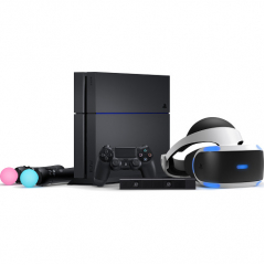 Комплект Pro Pack - Sony PlayStation 4 Pro (1ТБ) + PlayStation Camera + шлем PlayStation VR + контроллер движений PlayStation Move (2 шт)