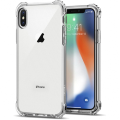 Чехол Spigen Rugged Crystal для iPhone X кристально-прозрачный (057CS22117)