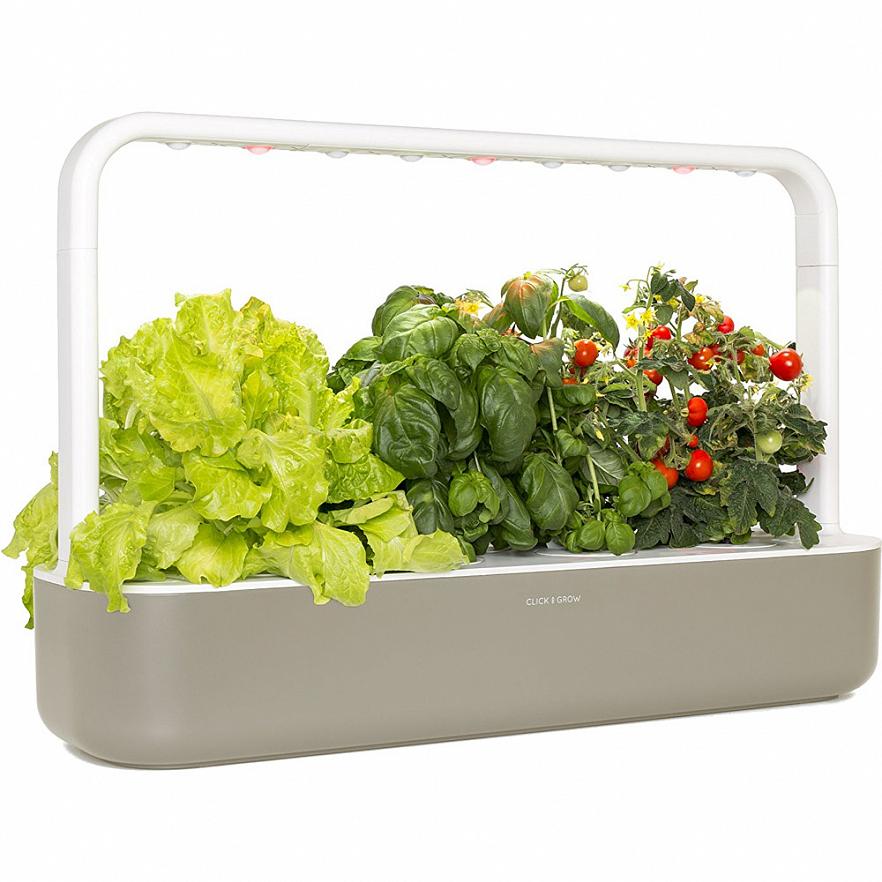 Умный сад Click and Grow Smart Garden 9 Помидоры Черри, Базилик, Зелёный Салат (бежевая крышка)