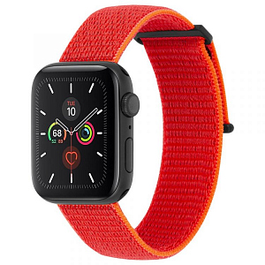 Ремешок Case-Mate Nylon Watch Band для Apple Watch 42/44 мм оранжевый (Reflective Neon Orange)