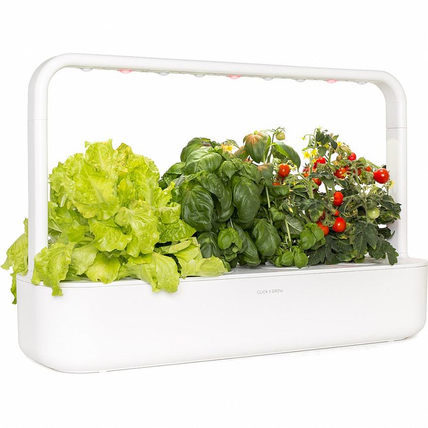 Умный сад Click and Grow Smart Garden 9 Помидоры Черри, Базилик, Зелёный Салат (белая крышка)